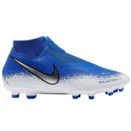 9270b0cec0e32 Chuteira Campo Nike Phantom VSN Academy AO3258-410 Azul Branco