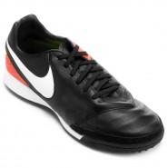 Chuteira F7 Nike Tiempo Mystic V TF 819224-018 Preto Salmão 203662fae6286