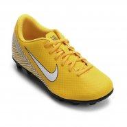 Chuteira Infantil Campo Nike Mercurial Vapor XII Neymar AO9472-710 Amarelo a4b693b06a2ff