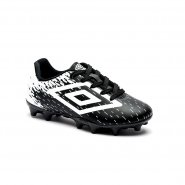 Chuteira Infantil Campo Umbro Acid Jr OF80031-112 Preto/Branco