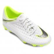 885ae11178 Chuteira Masculina Nike Phantom 3 Club (FG) AJ4145-107 Branco Verde