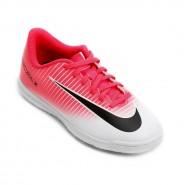 Chuteira Nike Indoor Vortex III IC Infantil 831953-601 Rosa Branco 973903e1a4a72
