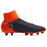 ba4ead96358db Chuteira Nike Magista Obra II Academy DF FG AH7303-080 Cinza/Laranja