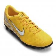 8519079927f Chuteira Campo Nike Neymar Vapor 12 Club FG MG AO3129-710 Amarelo Preto