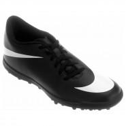 Chuteira Society Nike Bravata TF 768917-011 Preto Branco 5fca7f56a2948