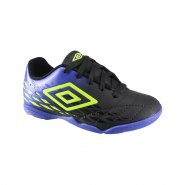 Indoor Infantil Umbro Fifty II Jr OF82050-136 Preto/Royal/Limão