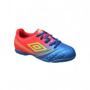 Indoor Infantil Umbro Fifty Jr OF82033 306 Azul/Coral/Laranja