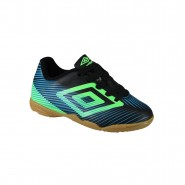 Indoor Infantil Umbro Speed II Jr OF82026 153 Preto/Azul/Verde