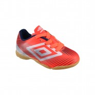 Indoor Infantil Umbro Speed II Jr OF82026-027 Coral/Branco/Cinza