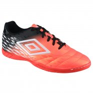 Indoor Umbro Fifty II 0F72103-012 Coral Preto Branco e2e9bd35b1c17
