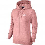Jaqueta Feminina Nike Hoodie Fz Flc 853930-697 Rosa be57392f72276
