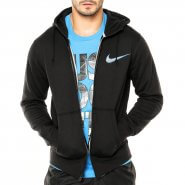 Jaqueta Masculina Nike Club Fleece Swoosh Full 727757-010 Preto