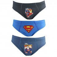 Kit C/3 Cueca Lupo Infantil Slip Superman