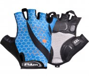 Luva Bike Poker Cycle 01905 Azul/Preto