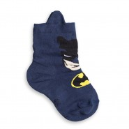 Meia Infantil Lupo Batman (24 ao 27) 2340 113 2860 Azul 8474eae2aa004