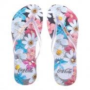 6767f756f Sandália Feminina Coca-Cola Aquarelle Flower CC2446 Preto Cristal