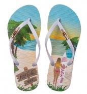 90054f406 Sandália Feminina Coca-Cola Beach Girl CC2613 Branco