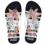 b2bd339c9 Sandália Feminina Coca-Cola Flowers Stripes CC2581 Preto Cristal