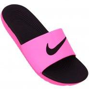 86c361c2b4 Sandália Feminina Nike Kawa Slide 834588-606 Preto Rosa