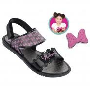 69d3abacf03 Sandália Grendene Infantil Disney Minnie Fashion (Com Brinde) 21366-22775  Preto Prata