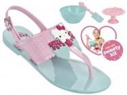 862cdc6e7a8 Sandália Infantil Grendene Hello Kitty (Com Brinde) 21375-50961 Verde Rosa