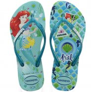 Sandália Infantil Havaianas Kids Slim Princess 4123328 0642 Ice Blue