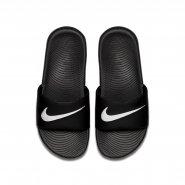46294b4d8f73f Sandália Infantil Nike Kawa Slide 819352-001 Preto Branco