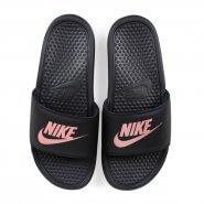 914bcb3802 Sandália Nike Benassi JDI 343881-007 Preto Rosa Velho