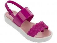 985c93b11a0b0 Sandália Plataforma Infantil Grendene Barbie By Larissa Manoela 21544-21894  Branco Rosa
