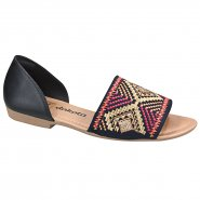 Sandália Rasteira Dakota Z2651 0003 Preto/Multicolor (Garland/Bordado)