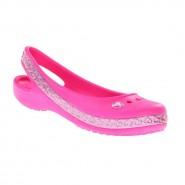cd7f0416d6 Sapatilha Infantil Crocs Genna II Hearts Flat 14481 Rosa