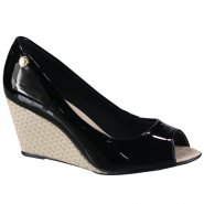 121d8f53a4 Sapato Feminino Moleca Peep Toe 5270.840 13488 15745 Preto (Verniz Premium)