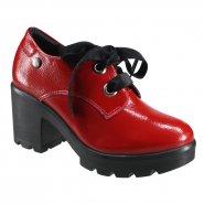 50efe25a2e5 Sapato Feminino Oxford Quiz 69-69230 Vermelho (Cab Verniz)
