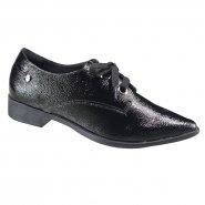 e2aec542d Sapato Feminino Oxford Quiz 69-50127 Preto (Cab Verniz Show)
