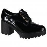 221fb8226 Sapato Feminino Oxford Vizzano 1294.100 13488 15745 Preto (Verniz Premium)