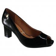 9a5086e144 Sapato Feminino Vizzano Peep Toe 1818.400 13488 15745 Preto (Verniz Premium)