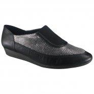 24a158bb1 Sapato Usaflex Feminino Z1011-1 Preto Grafite (Mestico)