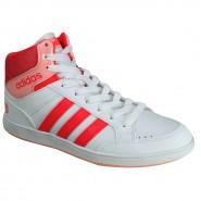 f8662af98cc Tênis Botinha Adidas Hoops Mid K B74653 Branco Rosa