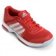 f3fce034391 Tênis Feminino Adidas Barricade Aspire STR AQ2387 Vermelho Branco