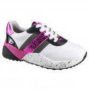 Tênis Feminino Vizzano Flatform 1296.204 16828 62761 Branco Preto Cinza Pink  (Pelica 1e19784e9c8a3
