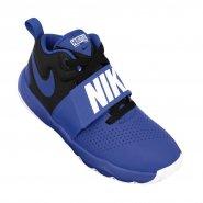 af7b2805caef1 Tênis Infantil Nike Team Hustle D 8 881941-405 Azul Branco Preto
