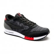 2208d06c73 Tênis Masculino Fila Euro Jogger Sport 11U335X-979 Preto Grafite Vermelho