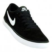 Tênis Masculino Nike SB Check Solar 843895-001 Preto Branco 8739a601c9db2