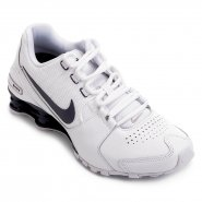 43fa71e8c4 Tênis Masculino Nike Shox Avenue LTR 833584-104 Branco Marinho