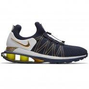 931091e17f Tênis Masculino Nike Shox Gravity AR1999-400 Marinho Dourado