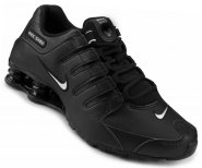 2b19fdd0cb Tênis Masculino Nike Shox NZ EU 501524-091 Preto