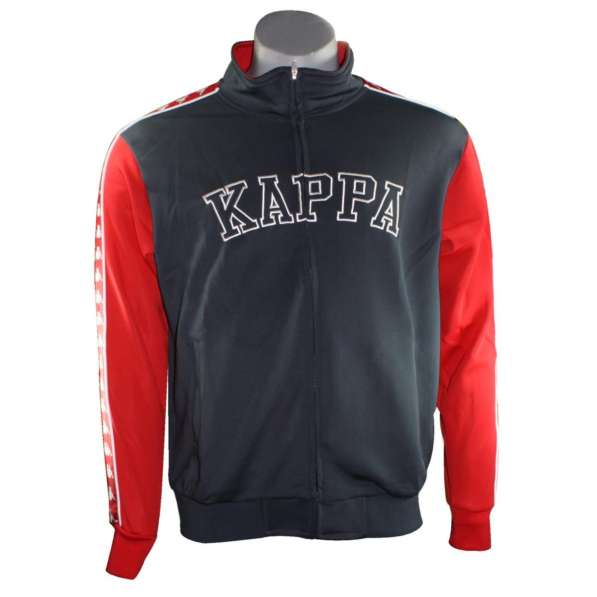 Jaqueta Kappa Banda Teitil 302ZKL0 Grafite Vermelho b8f7b09a43c10
