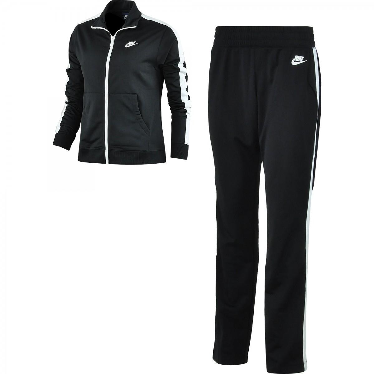Agasalho Feminino Nike Nsw Track Suit Pk Oh 830345-010 Preto 44548610be703