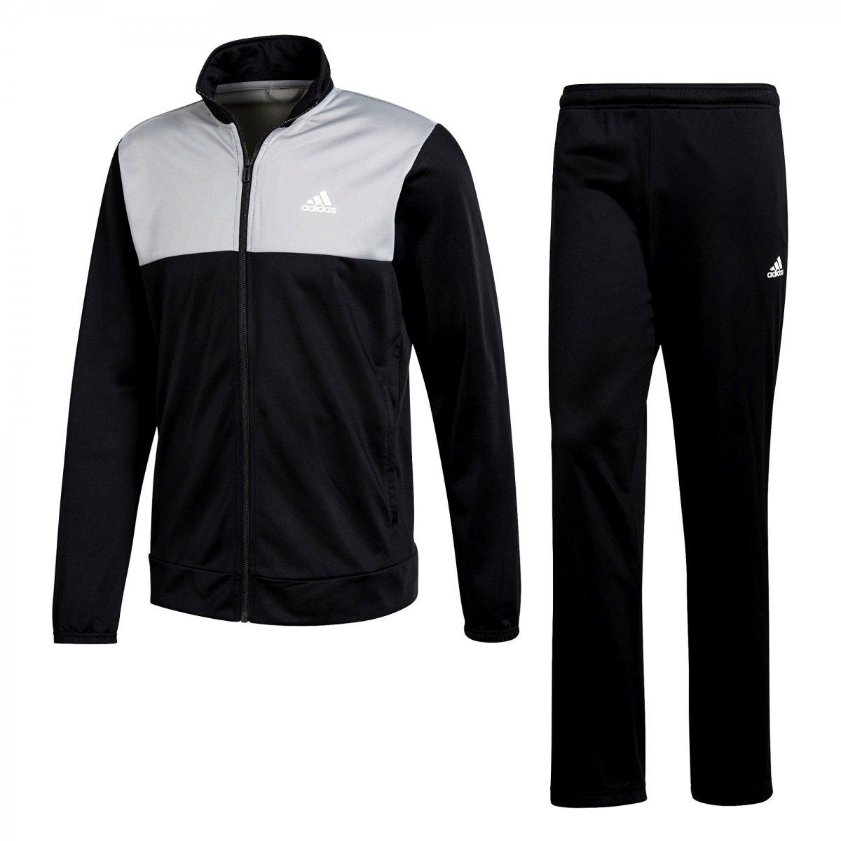 Agasalho Masculino Adidas Back 2 Basics CF1615 - Preto Branco ... 95fa604f2c4