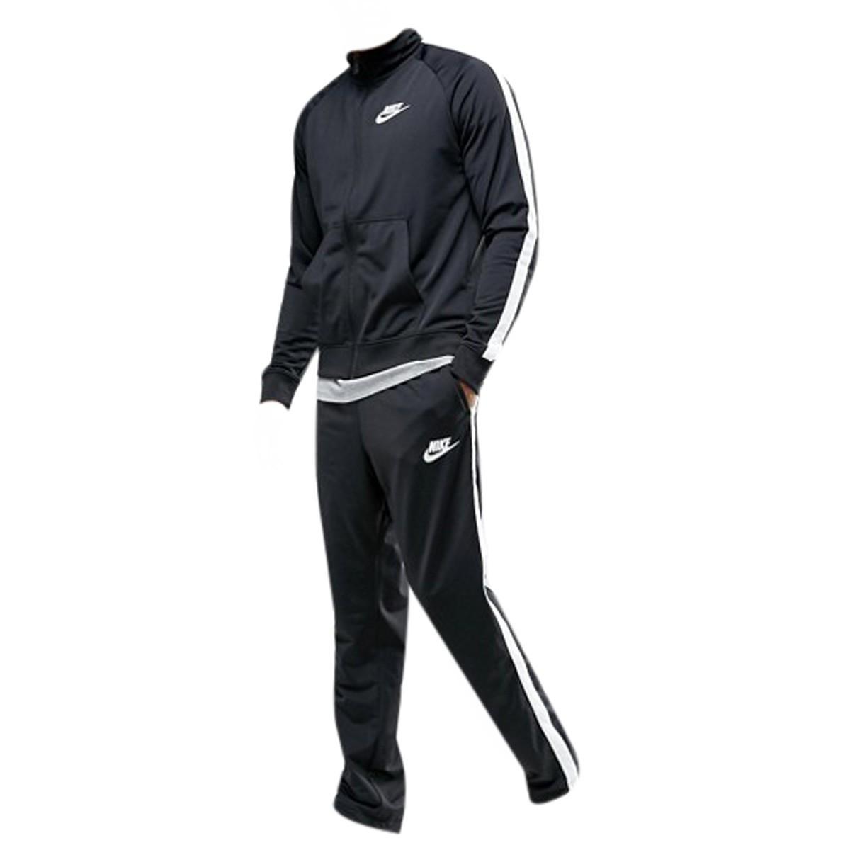 Agasalho Masculino Nike Tracksuit 840643-010 Preto Branco 4968f87515311